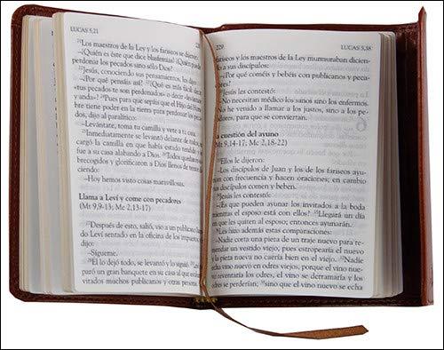Santos Evangelios. Piel Marron: Modelo bolsillo edición piel (Nuevo Testamento)