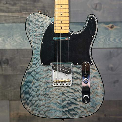 Fender Rarities American Original '60s QMT Telecaster Electric Guitar, Maple Fingerboard, Blue Cloud