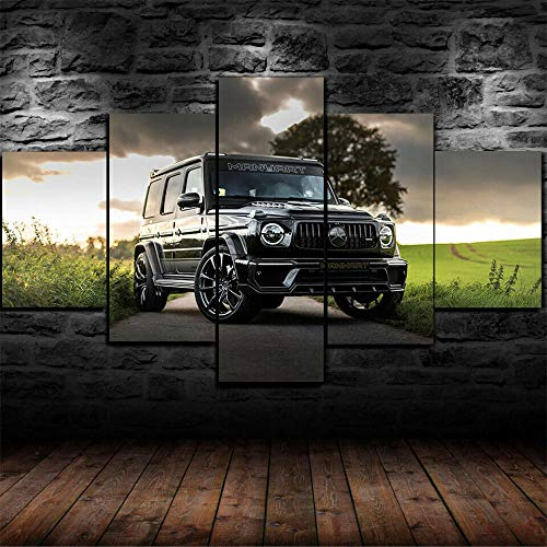 CVBGF Canvas printing 5 Pieces photo Canvas painting wall Art, Ma-art G 700 Inferno Wagon poster Bedroom living room home decoration art wallpaper canvas ,wooden frame-80 * 150CM