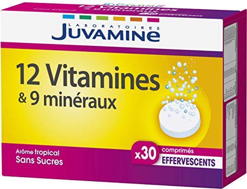 Juvamine 12 VITAMINES + 9 MINERAUX, 30 comprimés effervescents