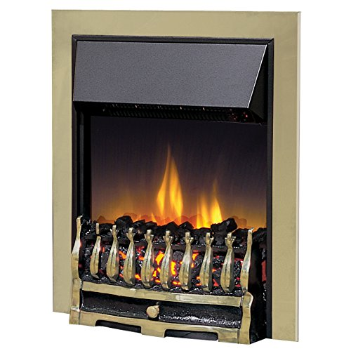 Dimplex 035806 WYN20AB Wynford Electric Inset Fire with Optiflame Effect, 2 kW, 230 W, Antique Brass