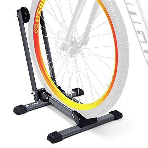 LYCAON Soporte de ruedas traseras para bicicletas (Ultimate Gray) Soporte para bicicletas plegable - Classic