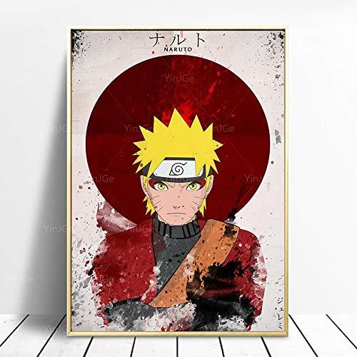 Puzzle 1000 Piezas Naruto Imagen Abstracta Arte Anime Japonés Moderno Puzzle 1000 Piezas Adultos Juego de Habilidad para Toda la Familia, Colorido Juego de ubicación. Rompecab50x75cm(20x30inch)