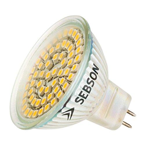 SEBSON 10x LED Lampe GU5.3 / MR16 warmweiß 3.5W, ersetzt 35W Glühlampe, 280 Lumen, 12V DC, Leuchtmittel 110°, 10er Pack