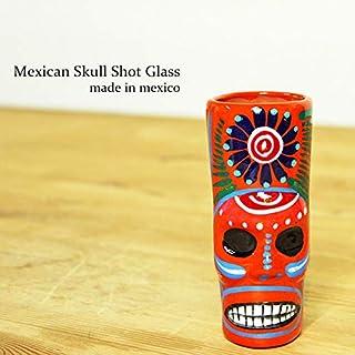 RUG&PIECE Mexican skull メキシカンスカル ショットグラス メキシコ製 (int-2127)