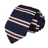 Xisheep Necktie,Men Knitted Crochet Stripe Necktie Wedding Party Classic Neck Ties Tie, Easter (C)