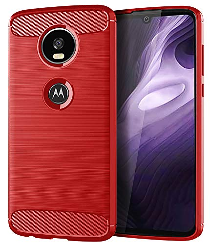 Moto Z4 Case,Moto Z4 Play Case,Moto Z4 Force Case, Asmart Shock Absorption Moto Z4 Phone Case Slim Thin TPU Bumper Cover Skin Soft Flexible Lightweight Protective Case for Motorola Moto Z4 Play,Red