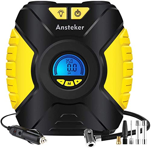 Ansteker Tyre Inflator - Portable Air Compressor Car Tyre Pump 12V...