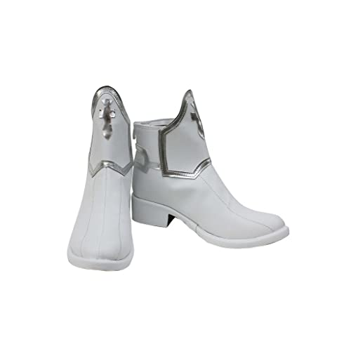 Telacos SAO Sword Art Online Anime Asuna Yuuki Cosplay Shoes White Boots Custom Made