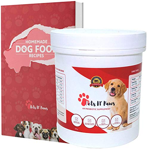 Pets N Paws Probiotics For Dogs and Dog Stool Firmer, Crush Colitis and Give Your Dog a New Lease Of Life Whilst Avoiding Expensive Vet Bills - 300 Gram Powder With A Precise Measuring Scoop
