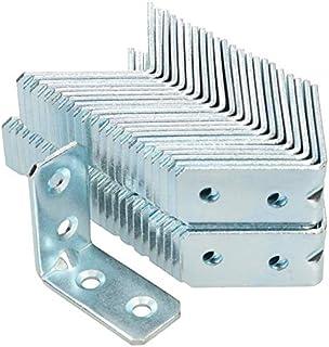 Conector angular de KOTARBAU 40 x 40 x 20 x 2 mm con ranura de acero agujeros de montaje conectores para muebles galv...