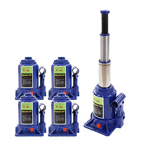 ボトルジャッキ 油圧式 定格荷重約6t 約6.0t 約6000kg 4台セット 4個 油圧ジャッキ 二段階 三段階 多段階 だるまジャッキ ダルマジャッキ ジャッキ 手動 安全弁付き ジャッキアップ ハイアップ タイヤ交換 工具 整備 修理 メンテナンス