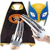 T-XYD 1 Paire de Jouets à Griffes Wolverine pour Enfants Jeu de Griffes pour Masque de Carcajou avec des Yeux Brillants Accessoires de Costumes pour Le cinéma Cosplay Ensemble de 3 pièces