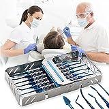 Kit de Instrumentos de Relleno de Compuesto Dental de 6 uds, Mango de espátula de plástico Plano restaurador de Titanio, Punta de Bola para clínicas de Dentista