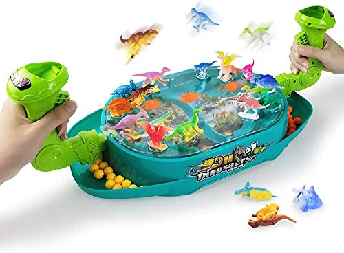 MOMSIV Dinosaur Bounce Game - Marble Rush and Dinosaur Bounce Creative Party Game Board Battle Game