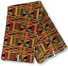 African Kente Print #1- Serengeti Fabric (1 Yard) Kente African Print Fabric Cotton 44