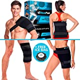 Large Ice Pack Hot Cold - Flexible Shoulder Ice Pack Wrap - Body Ice Pack for Knee and Hip Replacement - Reusable Gel Pad for Injuries and Back Pain + Ice Bag