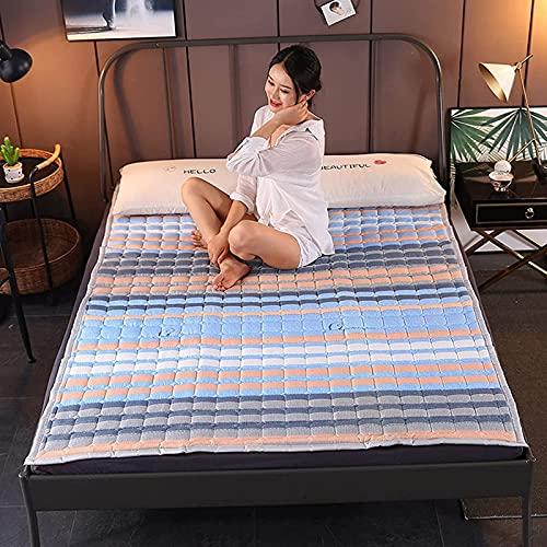 Nuiik-C22x Materasso per dormitorio per Studenti Materasso per Dormire Twin Tatami Materasso Pieghevole Arrotolabile per Letto a Pavimento Materasso futon Giapponese (90x200cm)