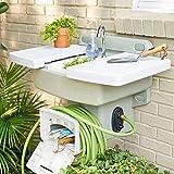 BrylaneHome Outdoor Garden Sink with Hose Holder Reel Potting...