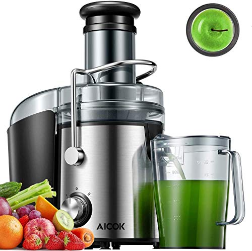 AICOK Juicer Extractor 1000W Centrifugal Juicer Machines Ultra Fast Extract Various Fruit and Vegetable Juice, 75MM Large Feed Chute Easy...