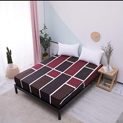DSman Protector de colchón de Rizo algodón y Transpirable Impresión de sábanas a Prueba de Agua y a Prueba de Polvo -15_100cmX200cmX30cm