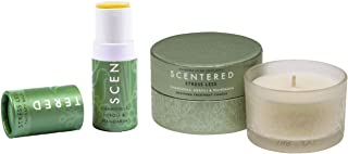 Scentered I Want to DE Stress Aromatherapy Balm & Candle Gift Set - Supports Relaxation, Calmness & Stress Relief - Chamom...