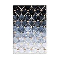 カーペットマット、フロアマット、滑り止めマット、さまざまなスタイル、家族は活力と美しさ、環境にやさし 敷物の幾何学的な北欧のリビングルームのモダンな家の装飾カーペットの寝室の廊下の床のマット滑り止めドアマットピンクリビングルーム敷物160x230p (Color : F, Size : 45 x 75 cm)