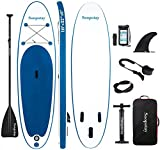 Soopotay Inflatable SUP Board, Stand Up Paddle Board, Inflatable Paddle Board, iSUP Package with All Accessories (Navy_Blue, 10' x 32'' x 6'')