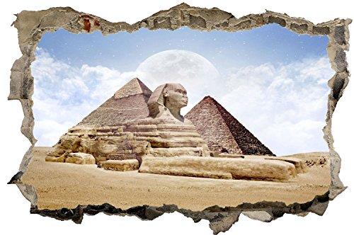 Pyramide Ägypten Mond Wandtattoo Wandsticker Wandaufkleber D0538 Größe 70 cm x 110 cm