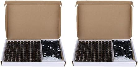 Baosity 200 unidades de mini frascos de vidro de 1 ml com redutor de orifício à prova de vazamento
