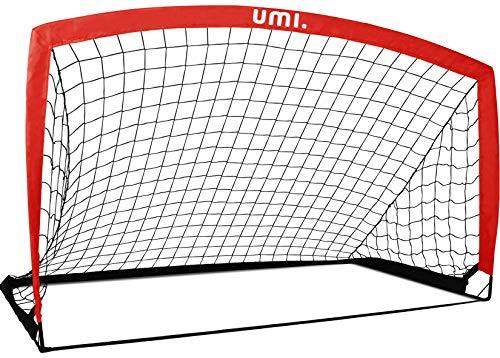 Amazon Brand – Umi Football Goal – Portable Football Net – 6'6'x3'3', Apple Red, 1 Piece