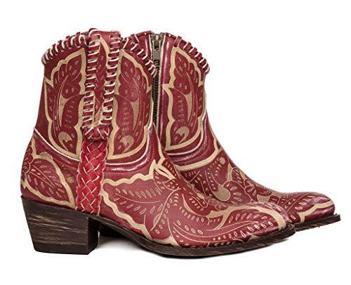 Sendra Boots 13409 Debora Western-Stiefel, Rot - rot - Größe: 36 EU