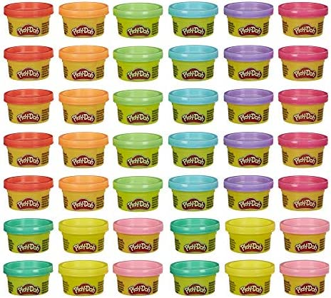 Play Doh Handout 42 Pack of 1 Ounce Non Toxic Modeling Compound for Kid Party Favors Trick or product image