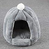 NJY Camas para perros y mascotas, tapete calefactable para perros pequeños, caseta para gatos, saco de dormir, cama para cueva, B, S