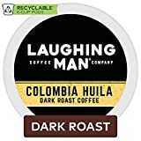 Laughing Man Colombia Huila, Single-Serve Coffee K-Cup Pods, Dark Roast, 44 Count, 44-Count