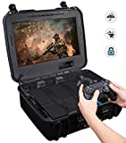 Case Club Waterproof Playstation 4 Portable Gaming Station with Built-in Monitor & Storage for PS4 Controllers & Games