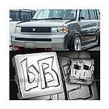 xb scion emblem - for 03 04 05 06 07 Scion xB JDM bB Hood GriIIe Chrome Finish Logo Badge EmbIem