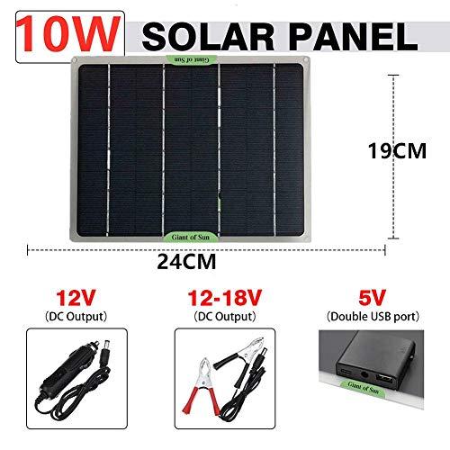 Solarpanel 12v 20W/10W Outdoor Usb,Solar Ladegerät, IP65 Wasserdichtes Solarpanel,Solarpanel Tragbares Leichtgewicht - Für Auto Van Boat Camping Travel