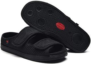 B/H Edema Swollen des Sandales,Chaussures en Tissu réglables en Largeur et gonflement du Pied, Chaussures pour Pied diabét...