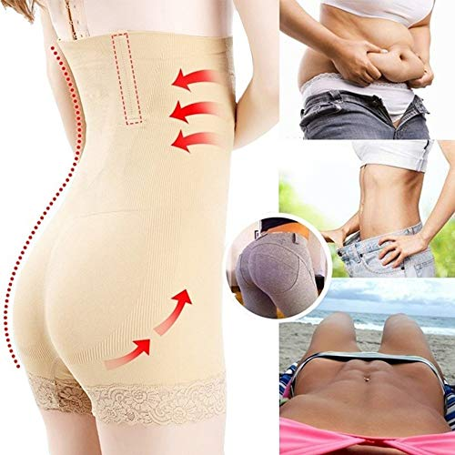 Rugsteungordel Dames Seamless Waist Trainer Afslanken ondergoed hoge taille Tummy Controle Postpartum Body Shaper Slips Sexy Lift Hip Panties brace Lumbale (Color : Beige, Size : 3XL 4XL)