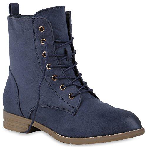 Damen Schnürstiefeletten Stiefeletten Schuhe 147165 Dunkelblau Camargo 36 Flandell