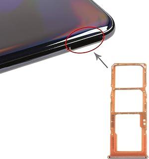 GXX Lin SIM Card Tray + SIM Card Tray + Micro SD Card Tray for Galaxy A70 (Black) (Color : Orange)