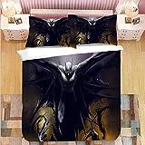 HDBUJ Murciélago con Alas Anchas Funda Nórdica 3D Negra, Ropa De Cama De Poliéster con Cremallera, Dos Fundas De Almohada, Cama Individual (Cama Doble) 220X240Cm