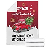 iBedding Hallmark Christmas Movie Premium Throw Blanket Soft Flannel Blankets for All Seasons for Couch Bed Sofa 30'x40'