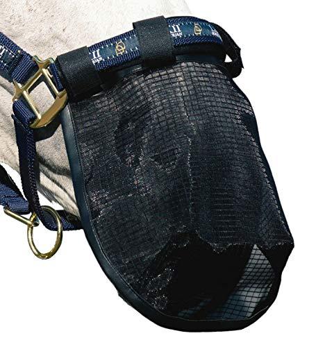 netproshop Fliegenschutz Nasennetz Nasenschutz Hilfe bei Headshaking Schwarz Pony oder Full, Groesse:Full