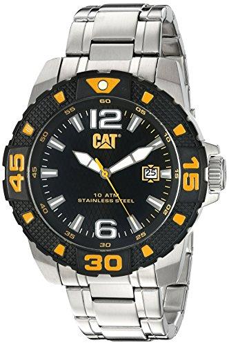 Caterpillar PT.141.11.137 - Reloj de Cuarzo para Hombre, Correa de Acero Inoxidable Color Plateado