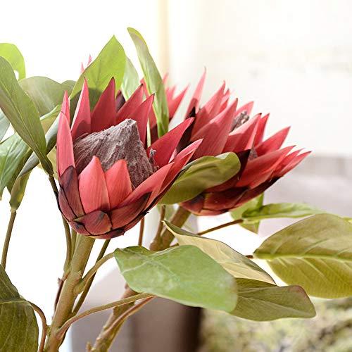 RIsxffp Künstliche Pflanzen, 1 Stück, King Protea, künstliche Blume, DIY Hochzeit, Bouquet Party Decor