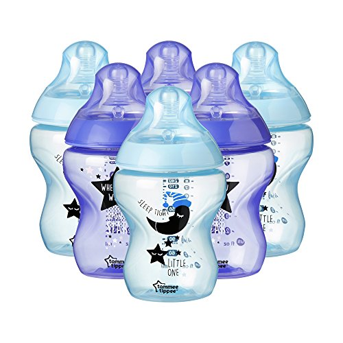 Tommee Tippee Biberones Closer to Nature, 260 ml, 6 unidades, azul