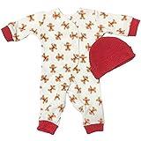 【未熟児】【低出生体重児】【早産児】【低体重】用 ベビー服: 長袖カバーオール 帽子付き ジンジャー