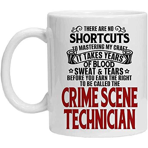 Tatort-Techniker-Tasse, Blut-Schweiß-Risse Erworbener Tatort-Techniker, Kaffeetasse